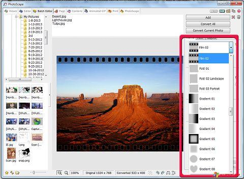 Ekrano kopija PhotoScape Windows XP