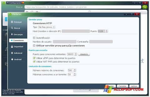 Ekrano kopija MediaGet Windows XP