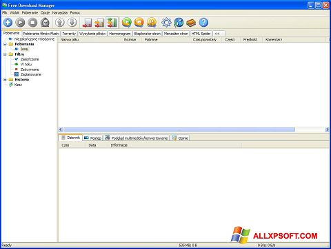 Ekrano kopija Free Download Manager Windows XP