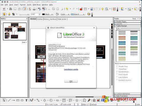 Ekrano kopija LibreOffice Windows XP