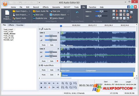 Ekrano kopija AVS Audio Editor Windows XP