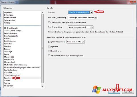 Ekrano kopija Adobe Reader Windows XP