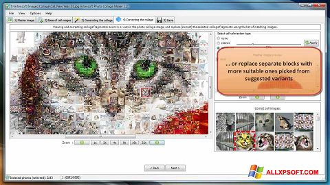 Ekrano kopija Photo Collage Maker Windows XP