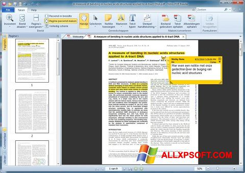 Ekrano kopija Nitro PDF Reader Windows XP