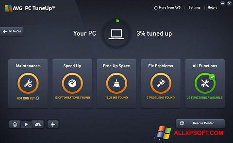 Ekrano kopija AVG PC Tuneup Windows XP
