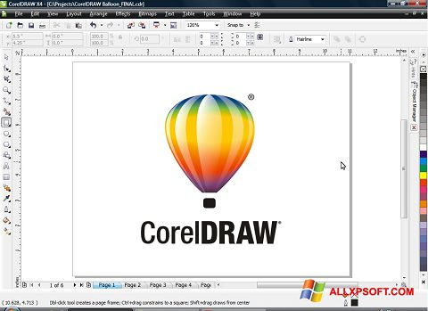 Ekrano kopija CorelDRAW Windows XP