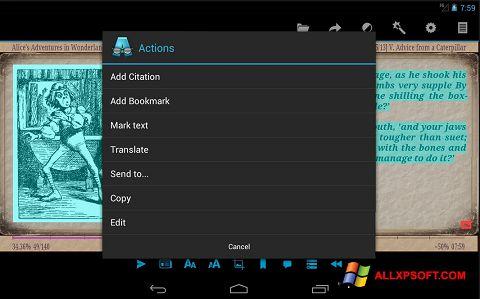 Ekrano kopija AlReader Windows XP