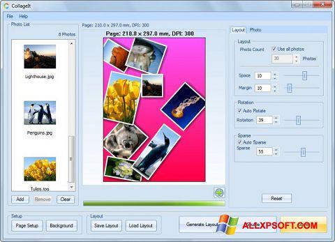 Ekrano kopija CollageIt Windows XP