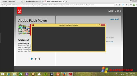 Ekrano kopija Adobe Flash Player Windows XP