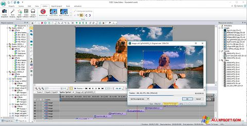 Ekrano kopija VSDC Free Video Editor Windows XP