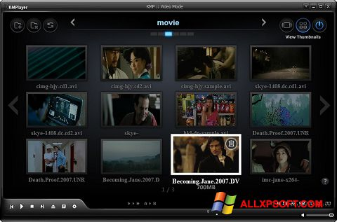 Ekrano kopija KMPlayer Windows XP