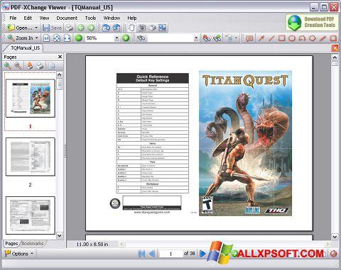 Ekrano kopija PDF-XChange Viewer Windows XP