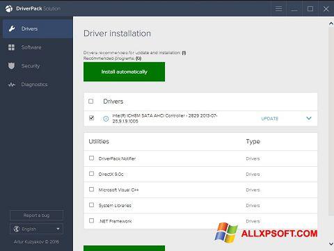 Ekrano kopija DriverPack Solution Windows XP