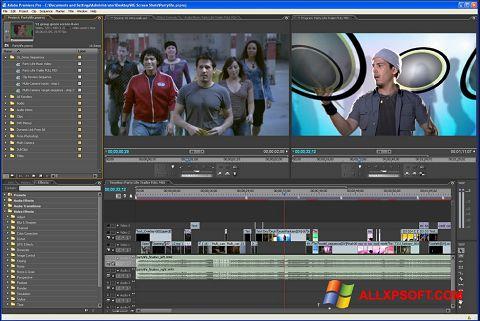 Ekrano kopija Adobe Premiere Pro Windows XP
