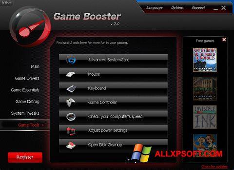 Ekrano kopija Game Booster Windows XP