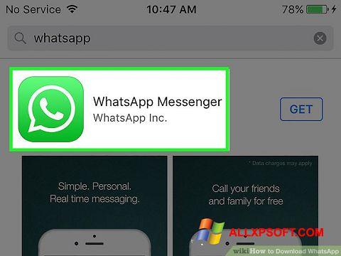 Ekrano kopija WhatsApp Windows XP