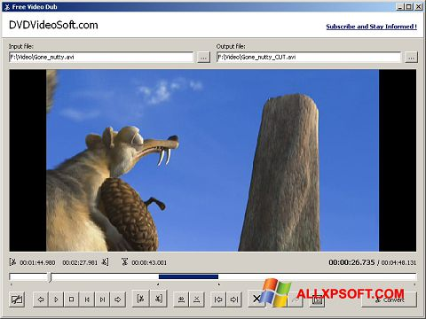 Ekrano kopija Free Video Dub Windows XP