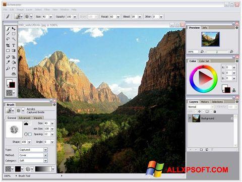Ekrano kopija Artweaver Windows XP