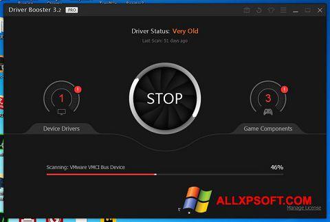 Ekrano kopija Driver Booster Windows XP