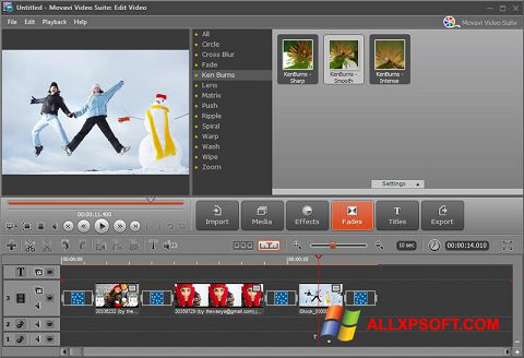 Ekrano kopija Movavi Video Suite Windows XP