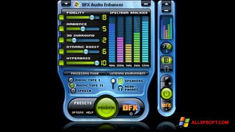 Ekrano kopija DFX Audio Enhancer Windows XP