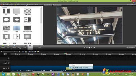 Ekrano kopija Camtasia Studio Windows XP