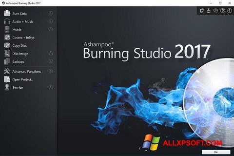 Ekrano kopija Ashampoo Burning Studio Windows XP