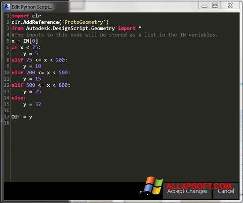 Ekrano kopija Python Windows XP